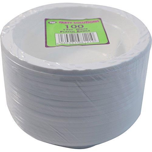 (Party & Paper Solutions 100x 12oz/15cm Kunststoff Schalen–Weiß 100Pack–toll für Partys)