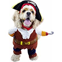 YiZYiF Hund tragen Kürbis Kostüm / Piratenkostüm komische Kleidung Katze Haustier Hundekostüm S-2XL Piraten Kostüm S