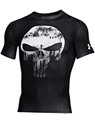 Under Armour Alter Ego Comp Punisher Team-Blk//Wht – Camiseta de compresión para hombre, diseño del Castigador, color blanco y negro, camiseta, Hombre, color negro, tamaño FR : L (talla del fabricante: LG)