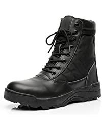 GOUPSKY Military Tactical Boots for Women Men Comp Toe Jungle Combat Boots with Side Zip