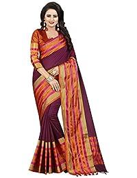 Macube Women's Cotton Silk Multi-Color Designer Half-half Sarees New Collection Today Low Price