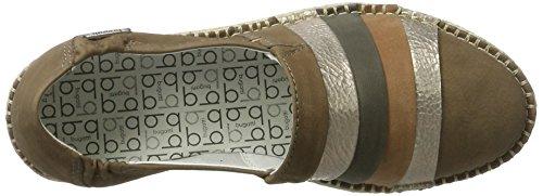 J95631 taupe Braun grau Bugatti d Damen 187 Slipper 1xqx65S