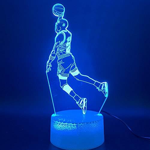 LED Nachtlicht Michael Dunk Abbildung 3d Lampe Sport Basketball Home Decor Geburtstagsgeschenk für Kinder Jungen Kind Neuheit Licht -