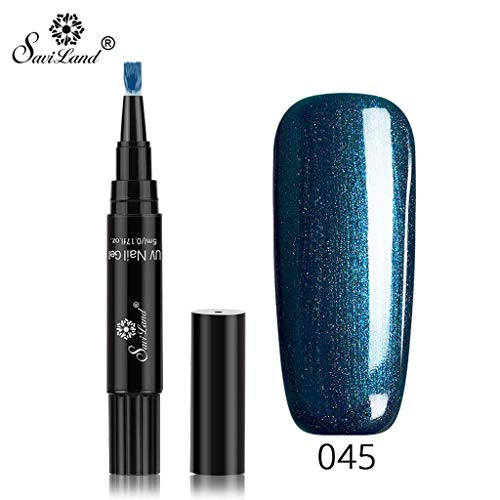 Nagellack, Holografischer Nagellack,Neueste 3 in 1 Gel Nagellackstift Flash Bright Gloss One Step Nagelgel UV Nagellack 20 Farbe Watopi