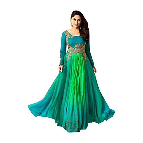 langes Kleid Muslimischen Indian bollywood Women Designer Party wear Anarkali Salwar Kameez with net jacket 564 Net Salwar