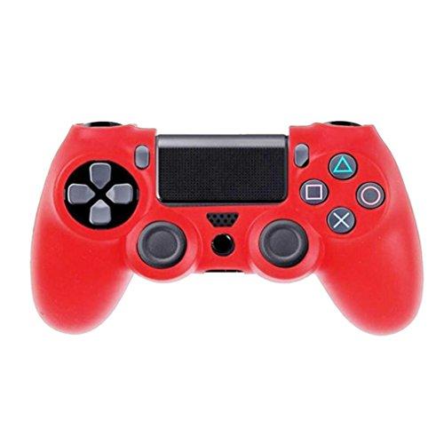 lilai Playstation Case Soft Silikon Schutzhülle für PS4Controller Rot Rot Psp-gel-fall