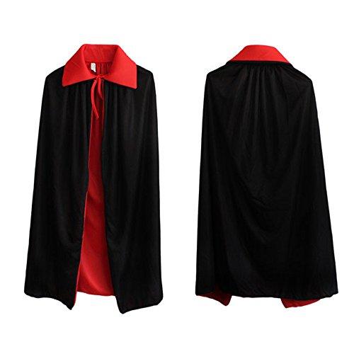 90-140cm Einzel / Doppel-Vampir Dracula-Umhang Umhang für Halloween-Kostüm-Kleid -