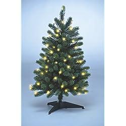 Xenotec PE- Weihnachtsbaum künstlich ca. 85cm hoch mit 70 LED- warmweißes Licht- Das Original
