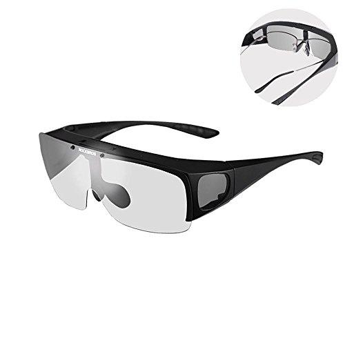 RockBros überbrille Gafas de sol polarizado para graduadas (Miopía Gafas  Protección UV400 ab45f6e36037