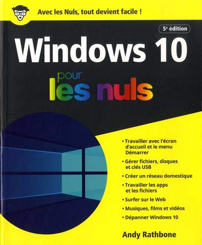 Windows 10 pour les Nuls, 5e édition par Andy RATHBONE