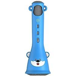 TOSING X3 Karaoke Microphone pour enfants Microphone sans fil Chant Machine meilleur cadeau pour les garçons et les filles d'anniversaire 2018-Kids Karaoke Machines (Bleu)