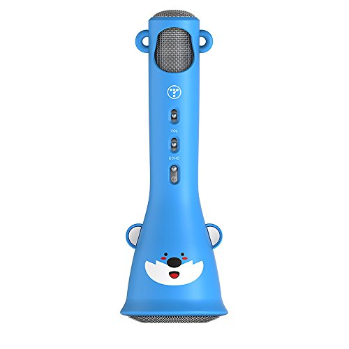 TOSING X3 Wireless Karaoke Mikrofone Bluetooth Lautsprecher Portable KTV Player Mini Home KTV Musik spielen und singen Maschine System für iPhone/Android Smartphone/Tablet (blue) - Maschine-system