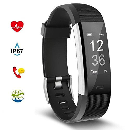 IFiter Fitness Tracker With Activity Heart Rate Monitor StepCalorie Counter Pedometer Blood Pressure Measurement IP67 Waterproof Bluetooth Smart Watches Colourfull Screen For Android IOS