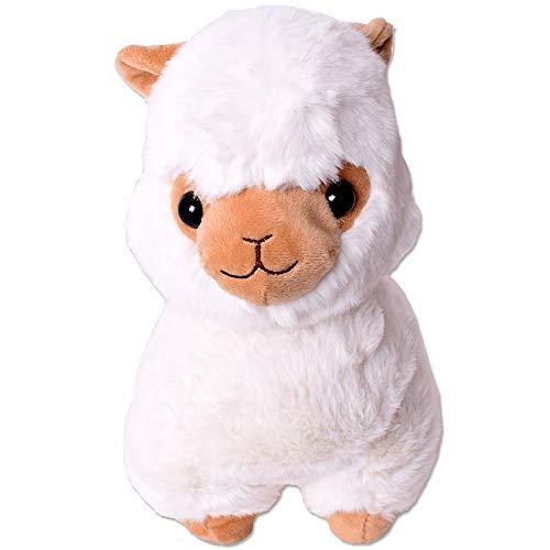 TE-Trend XXL Plüsch Alpaka Alpaca Lama Plüschtier Kuscheltier Deko Stofftier Kinder Baby Geschenk 30 cm weiß (Lama-plüsch-stofftier)