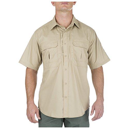 5.11 Tactical Taclite Pro Kurzarm Button-Up Shirt mit versteckten Taschen, Style 71175, Herren, TDU Khaki, Medium 5.11 Tactical Tactical Flannel