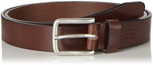 JACK & JONES Herren Gürtel Jjilee Leather Belt Noos, Braun (Black Coffee), 90 cm (Herstellergröße: 90)