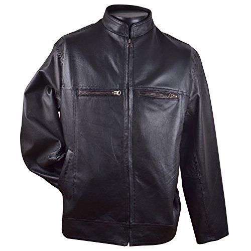 Qtl Quality Men Leather Jacket (Qtlljg _Black _Free Size)
