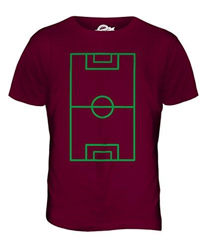 CandyMix Fußballplatz Herren T Shirt Burgunderrot