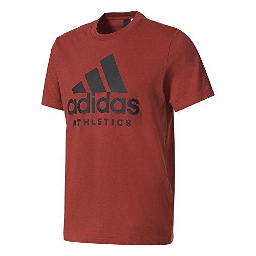 Adidas sid branded tee, maglietta uomo, rosso (rojmis), m
