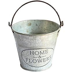 OUNONA Seau en métal Seau de fleur pour Décoration à la maison usage intérieur ou extérieur