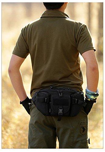 Flyhawk Outdoor/Sport Taktischer Molle Gürteltasche Bauchtasche Taillentasche Y102-Black