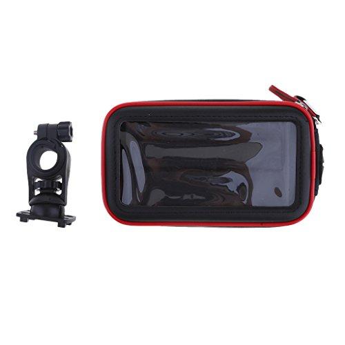 Preisvergleich Produktbild IPOTCH 1 Stück Lenkerhalterung Halter Tasche Verschleißteile Hartschalen-Handy-Halter für Fahrradlenker - Schwarz S