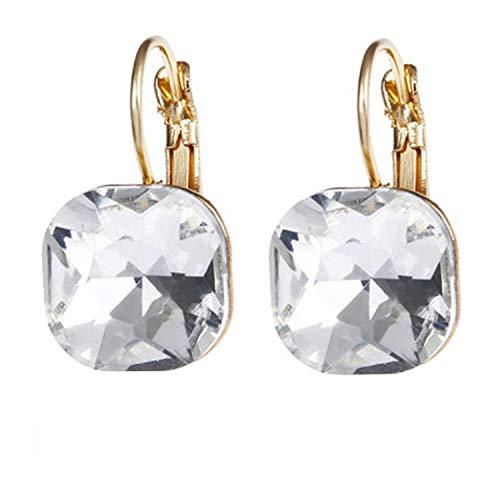 Semplice cristallo austriaco orecchini pendenti da donna a forma di goccia scintillante orecchini gioielli e lega, colore: baise, cod. azcycw0zi-gto5wij1i