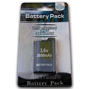 aktrend – Ersatz Power Akku 3600mAh für PSP Slim&Lite 2000 3000 2004 3004 (NEU) – Original 3600 Mah PSP Akku