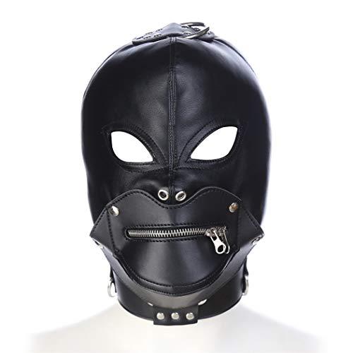 Kopfmaske Augenmaske Damen Herren Leder sm Bondage Fetisch Atmungsaktiv Sex Spielzeug Cosplay Für Anfänger Adults Halloween Rollen Spielen