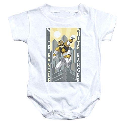 Power Rangers - - Toddler blanc Ranger Deco Onesie, 6 Months, White