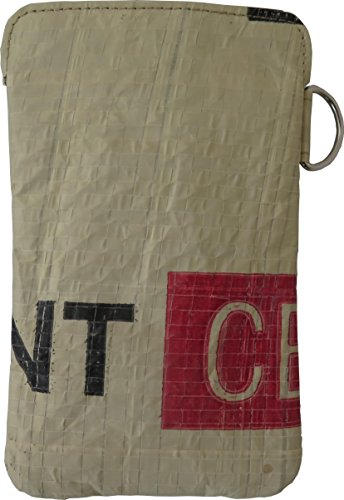 Beadbags Crispy - Nachhaltige Smartphonetasche für Apple iPhone 5 u.a. - individuell erstellt aus recycletem, tropischem Zementsackmaterial, Fair Trade, umweltschonend, strapazierfähig Rot