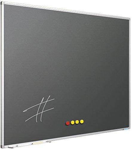 Kreidetafel Softline Rahmen 8mm, emailstahl grau (100 x 150 cm)
