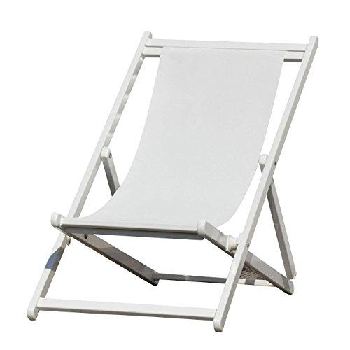 Fach Raster (Jan Kurtz Rimini Liegestuhl, weiß Gestell weiß 3-fach höhenverstellbar durch Raster)