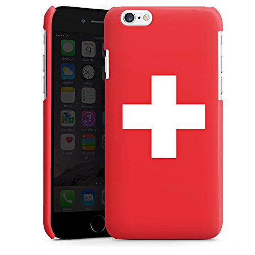 Apple iPhone 5s Housse Étui Protection Coque Suisse Suisse Drapeau Cas Premium brillant