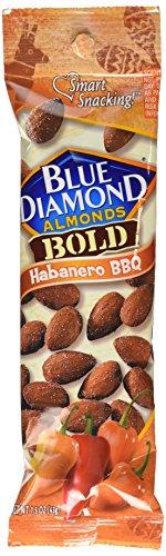 Ea Tube (Blue Diamond Bold Almonds, Habanero BBQ, 1.5 oz tubes 12 ea by Blue Diamond Almonds)