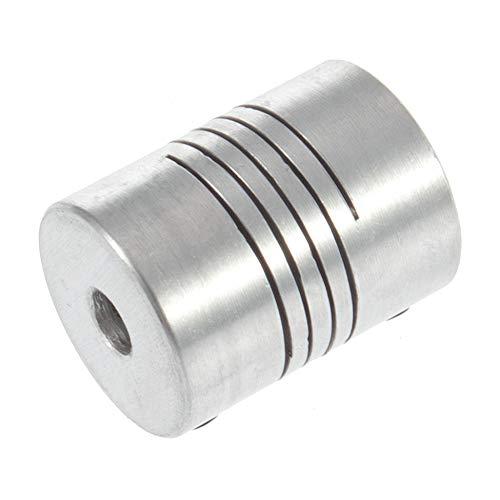 Hot Impresora 3D Motor paso a paso Acoplamiento flexible Acoplamiento/Eje Acoplamientos Acoplamiento de eje flexible de 5 mm * 8 mm * 25 mm Acoplamiento motorizado - Plata