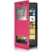 Seluxion - Housse Coque Etui S-View Fonction Support Couleur Rose Fushia  pour Nokia Lumia 623877d6e98