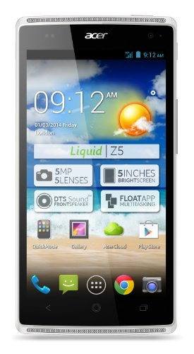 Acer Liquid Z5 Smartphone (12,7 cm (5 Zoll) Touchscreen, WiFi, Bluethooth 4.0, Android 4.2.2) weiß