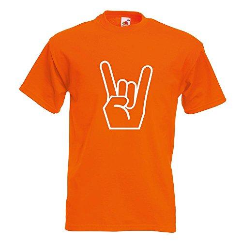 KIWISTAR - Heavy Metal T-Shirt in 15 verschiedenen Farben - Herren Funshirt bedruckt Design Sprüche Spruch Motive Oberteil Baumwolle Print Größe S M L XL XXL Orange