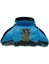 rougecaramel - Accessoires cheveux - Pince cheveux noeud grand modèle - bleu