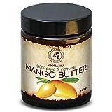 Mangobutter 100g - Mangifera Indica - Indonesia - 100% Rein & Natürlich Mango Butter - Glastiegel - Basisöl - Raffiniert - für Pflege Gesicht - Haare - Haut - Nägel - Hände - Lippen - Massage