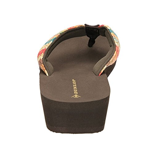 Dunlop Sandali infradito da donna zoccolo basso Dk Brown