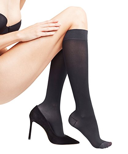 FALKE Damen Strumpfhosen Leg Energizer 50 den - 1 Paar, Gr. S-M, schwarz, matt semi-blickdicht vitalisierend, Shapping Effekt -