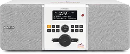 TechniSat DIGITRADIO 305 Schlagerparadies Edition / Digital-Radio mit Bassreflex-Holzgehäuse, DAB+, UKW, stationäre Bedienung, Direktwahltaste zu Schlagerparadies, weiß