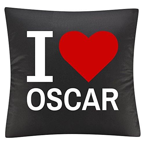 Kissenbezug Kissen Classic I Love Oscar schwarz (Oscar Souvenirs)