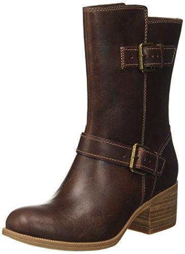 Clarks Damen Maypearl Oasis Biker Boots, Braun (Dark Tan), 42 EU