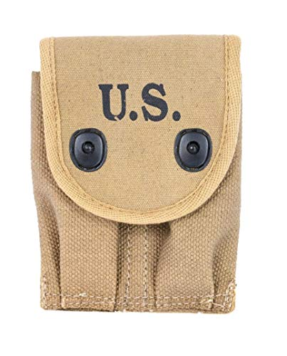 Colt 1911 45 Auto (World War Replica US WW1 COLT 45 Auto Double Magazine Pouch Reproduction(Pack of 2))