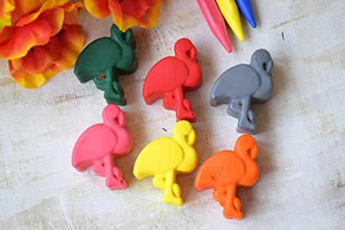 mte Flamingo Buntstifte Set von 6 tropische Reise Geschenk für Baby Kids Party bevorzugt Strand Hochzeit Party Tasche Füller Geburtstag bevorzugt Aktivität ()