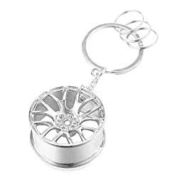 MESE London Car Rim Keychain Fast and Furious Inspired Silver