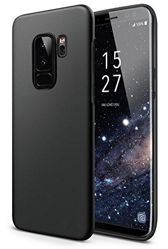 vau SlimShell Case Hülle kompatibel zu Samsung Galaxy S9 Plus - Hülle, Handy Schutz-Hülle Rückseite schwarz Hard Case Handy Cover